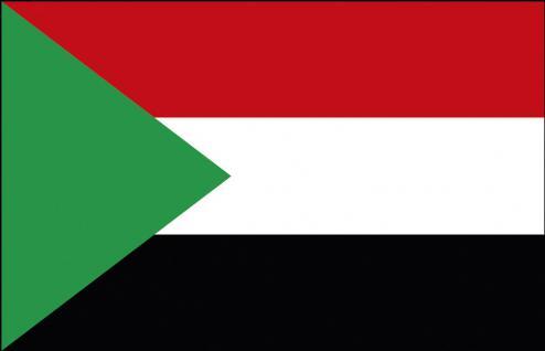 Stockländerfahne - Sudan - Gr. ca. 40x30cm - 77159 - Länderfahne, Dekoflagge