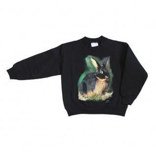 Sweatshirt mit Print Hase Kaninchen Schwarzloh S10787 schwarz Gr. S-2XL