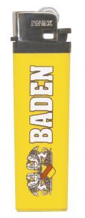 Feuerzeug Anzünder Einwegfeuerzeug - Wappen BADEN - 01068 gelb