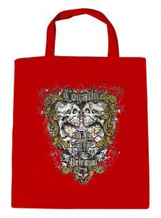 (U10831)Umweltfreundliche Baumwoll - Tasche , ca. 28 x 43 cm mit Aufdruck in 7 Farben rot