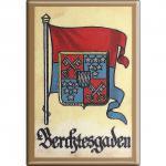 Küchenmagnet - Wappen Berchtesgarden - Gr. ca. 8 x 5, 5 cm - 37509 - Magnet Kühlschrankmagnet