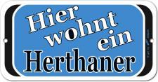 Türschild - Hier wohnt ein Herthaner - 308239 - Gr. ca. 14, 5 x 7, 5 cm - Kunststoffschild