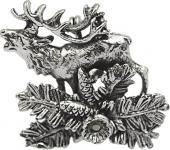 """PIN Anstecknadel Brosche """" HIRSCH BRUNFT"""" NEU Gr. ca. 3 x 2, 9cm (02677)"""