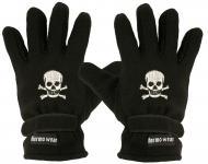 """(40385-56536) Fleece Handschuhe mit Einstickung """" TOTENKOPF"""""""
