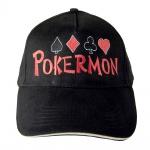 Baseballcap mit Einstickung - PokerMon PIK Karo Kreuz Herz - 68433-1 schwarz