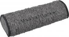 Nackenrolle mit Einstickung - Malkrafttanken - Gr. ca. 42 x 16, 5 x 9, 5 cm - 30057 grau