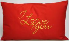 Kissen Zierkissen ca. 55x 35 cm Geschenk Muttertag Valentinstag I LOVE YOU - 11751 - Zierkissen