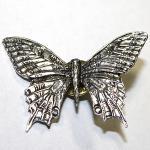 Anstecknadel - Metall - Pin - Schmetterling - Größe - ca 45 x 30 mm - 03905