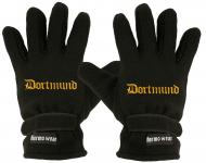 """(40385-56503) Fleece Handschuhe mit Einstickung """" DORTMUND"""""""
