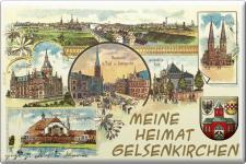 Küchenmagnet - Heimat Gelsenkirchen - Gr. ca. 8 x 5, 5 cm - 38280 - Magnet Kühlschrankmagnet