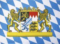 Deko-Fahne - Gr. ca. 150x100cm - weiß-blaue Rauten-Flagge - Bayern - 07899