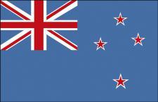 Länderflagge - Neuseeland - Gr. ca. 40x30cm - 77117 - Schwenkfahne mit Holzstock, Stockländerfahne