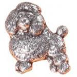 Anstecknadel - Metall - Pin - Pudel - Größe ca 4 x 3 cm - 02630