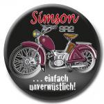 Ansteckbutton Anstecknadel - Simson SR2 unverwüstlich - 03733 - Gr. ca. 5, 7cm