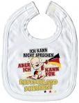 Baby-Lätzchen mit Print für Deutschland schreien.. 08421 weiss
