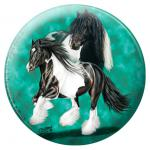 """Dekorativer Magnetbutton Türmagnet mit Pferdemotiv aus der Serie """" TINKER"""" NEU (16055) Kollektion Christina Bötzel"""