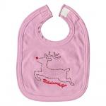 Baby-Lätzchen mit Print Elch Nikolaushelfer 12440/1 rosa