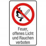 Verbotsschild - FEUER ... VERBOTEN - Gr. ca. 20 x 30 cm - 320483/1