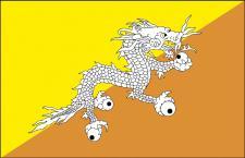 Länderfahne - Butan - Gr. ca. 40x30cm - 77035 - Stockländerfahne