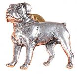 Anstecknadel - Metall - Pin - Boxer - Hund - 02618