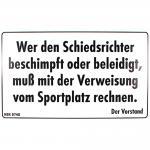 Spaßschild - Wer den Schiedsrichter beschimpft - 308740 - Gr. ca. 25 x 15 cm