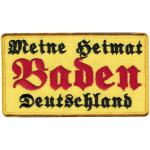 AUFNÄHER - Baden - 00066 - Gr. ca. 9, 5 x 5, 5 cm - Patches Stick Applikation