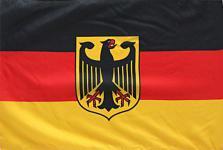 Länder-Fahne - DEUTSCHLAND - Gr. ca. 40 x 30 cm - 07637 - Fan-Flagge Fahne