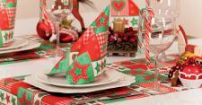 Serviette 20x - Weihnachten - Sterne Elch - Gr. 40x40cm - Weihnachtsfest - 33942