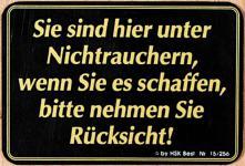 Hinweisschild - NICHTRAUCHER Rücksicht - Gr. ca. 15 x 10 cm - 308158
