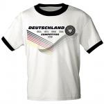 T-Shirt mit Print Deutschland 4 Sterne Competitor 2018 - 77542 weiß Gr. M