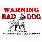 Warnschild - WARNING BAD DOG ... - Gr. ca. 30 x 20 cm - 308577