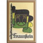 Kühlschrankmagnet - Wappen Traunstein - Gr. ca. 8 x 5, 5 cm - 37550 - Magnet Küchenmagnet