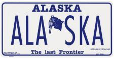 Aluminium-Schild - ALASKA the last Frontier - ca. 30 x 15 cm - 309221/1