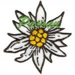 Aufnäher - Edelweißblüte Passau - 00056 - Gr. ca. 8 cm
