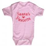 Babystrampler Print Weihnachten Santa´s Favorite 12745 Gr. rosa / 0-6 Monate