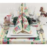 Servietten - 20x - Gr. 40 x 40cm - Motiv Weihnachtsgeschenke - 33949