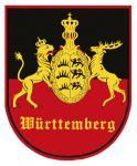 PVC-Aufkleber- Sticker Wappen - Württemberg - 301598-5 - Gr. ca. 6, 5 x 8cm