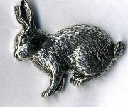 Anstecknadel - Metall - Pin - Kaninchen Hase - 02729