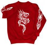 Sweatshirt mit Print - Tattoo - 09067 - versch. farben zur Wahl - rot / L