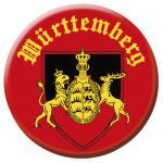 Button Anstecknadel - WÜRTTEMBERG - 03700 - Gr. ca. 2, 5 cm - mit Aufdruck