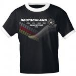 T-Shirt mit Print Deutschland 4 Sterne Competitor 2018 - 77543 schwarz Gr. S