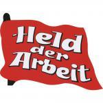 Aufkleber - Held der Arbeit - 303124/1 - Gr. ca. 9 x 7 cm