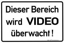 Hinweisschild- Türschild - Dieser Bereich wird videoüberwacht - Gr. ca. 20 x 30 cm - 308295-1