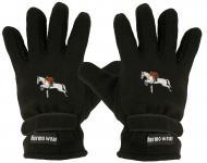 """(40385-56532) Fleece Handschuhe mit Einstickung """" SPRINGREITER"""""""