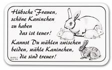 Hinweisschild - Türschild - Spaßschild - Hübsche Frauen..Hühner - Gr. 25x14cm - KN806/1