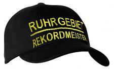 BW Cap Base-Cap Schirmmütze Einstickung - RUHRGEBIET REKORDMEISTER - 68818 schwarz - Baseballcap Kappe