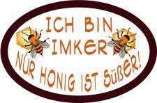 PVC Aufkleber - Ich bin Imker... - 307160 - Gr. ca. 10, 5 x 7 cm - konturengeschnitten
