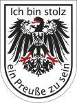 Wappenaufkleber Ich bin stolz ein Preuße zu sein - 301645-1 - Gr. ca. 3, 5 x 4, 6 cm