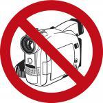 PVC-Aufkleber - Fotografieren und Filmen verboten - Gr. ca. 9 cm - 307398/1
