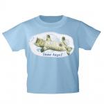 Kinder T-Shirt mit Print Cat Katzen Snow Angel Schnee-Engel KA058/1 Gr. hellblau / 122/128